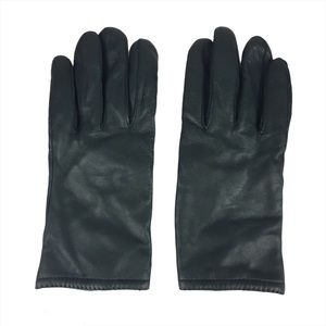Grandoe Forest Green Leather Gloves Sz M